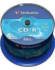 Verbatim CD-R 80MIN Datalife - Confezione da 50