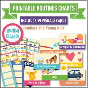 Printable Daily Routine Chart, Toddler Visual Cards in SPANISH