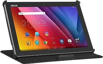 """StilGut UltraSlim V2, Custodia con Funzione Supporto per ASUS ZenPad 10"""" (Z300M), Cover Sottile con Supporto Mobile in Similpelle, Nero"""