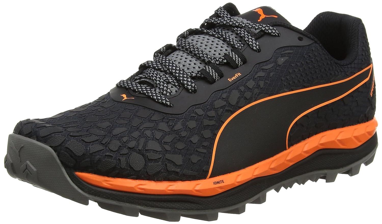 Puma Speed Ignite Trail, Zapatillas de Deporte para Exterior para Hombre 48.5 EU|Negro (Black-shocking Orange-quiet Shade)