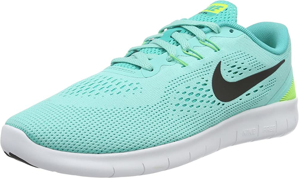 low priced 33115 510d4 NIKE Unisex Kids (NIKMM) Free RN (GS) Fitness Shoes, Turquoise (Türkis SchwarzGelb), 3.5 UK Amazon.co.uk Shoes  Bags