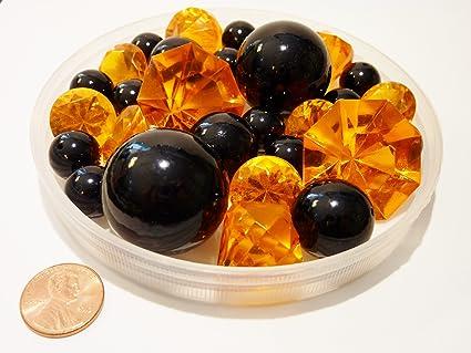 Amazon Halloween 30 Jumbo Assorted Sizes Black Orange Pearls