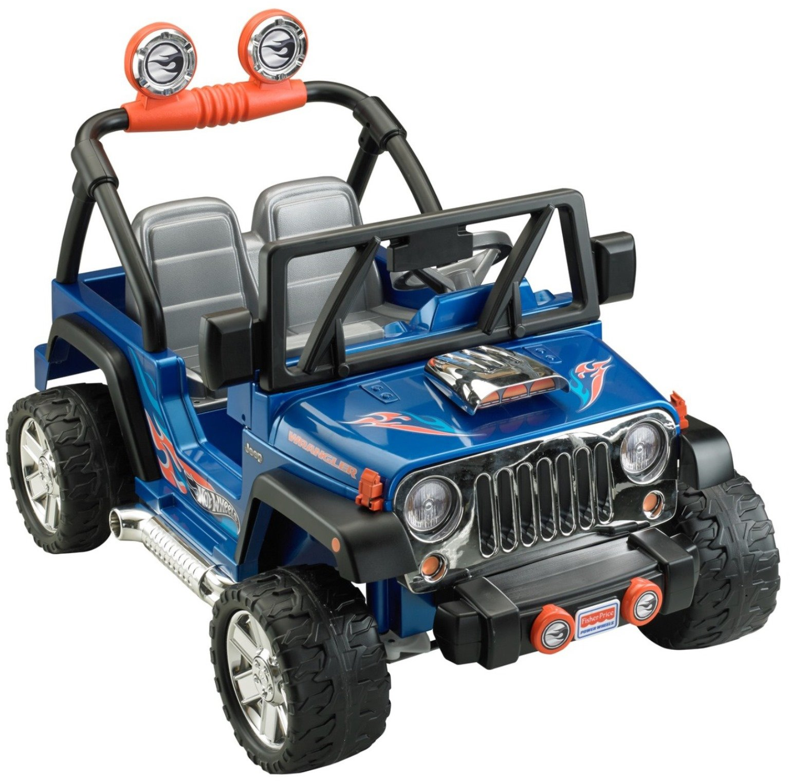 Power Wheels Hot Wheels Jeep Wrangler, Blue (12V) by Power Wheels (Image #1)