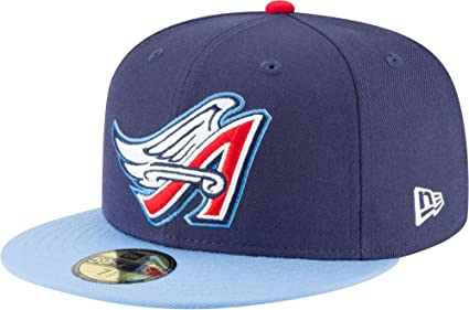 c7d34a1ca New Era 59Fifty Anaheim Angels Cooperstown 1997 Fitted Hat (Dark Navy) MLB  Cap