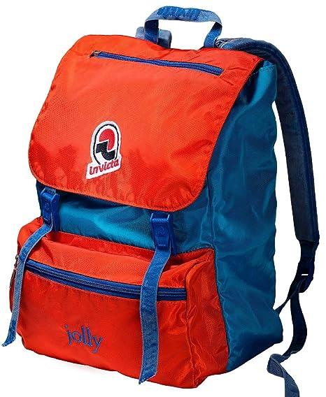 5fa3f0fdad Zaino INVICTA - JOLLY III VINTAGE - Arancione Azzurro original Porta ...
