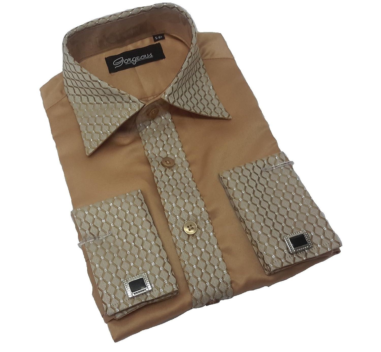 Boys Special Occasion Wedding Smart Shirt, Tie Cufflinks & Handkerchief set
