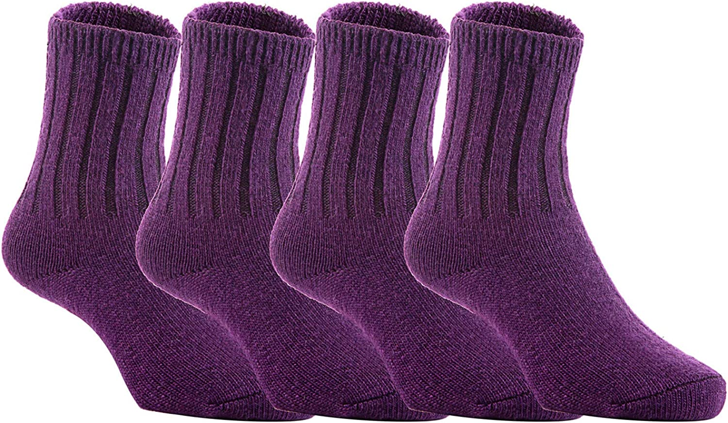 Stretchable Thick /& Warm Socks for Kids Solid 0Y-2Y Purple Durable Lovely Annie 4 Pairs Childrens Wool Socks Comfy
