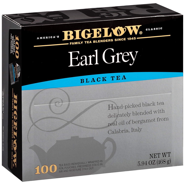 Bigelow Earl Grey Black Tea Bags, 100 Count Box Caffeinated Black Tea
