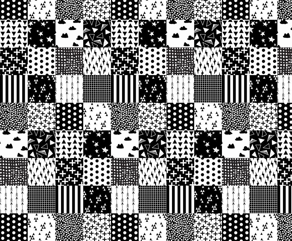 Amazon com cheater quilt fabric cheater quilt black and white quilt minimal modern geometric baby nursery by andrea lauren printed on fleece fabric