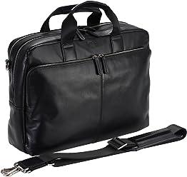 StilGut sac business homme à bandoulière Kollwitz en cuir vachette de qualité avec des compartiments intérieurs larges pour ordinateur et tablette