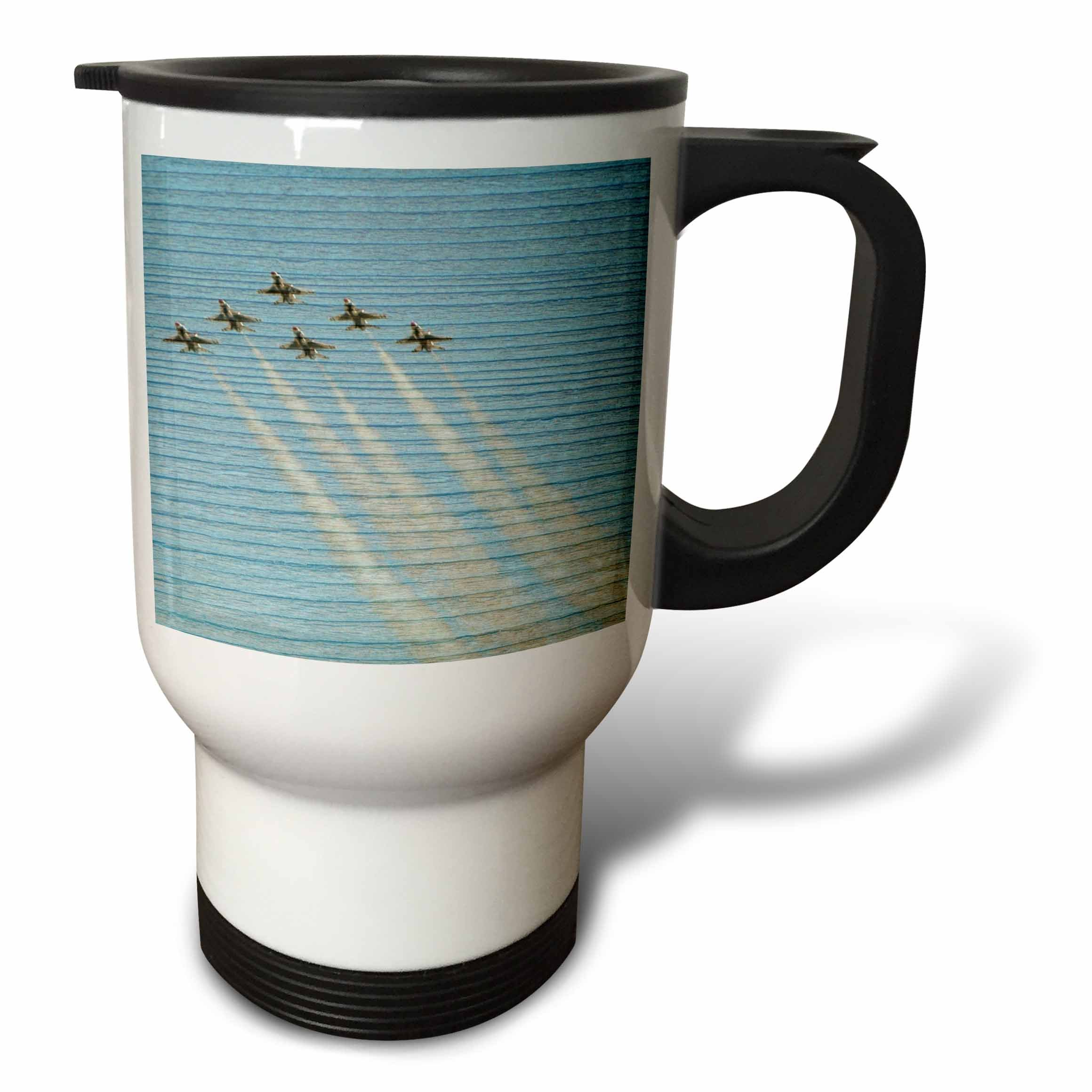 3dRose tm_29481_1'' Wood Airplanes in Flight Photography Scenic''Travel'' Travel Mug, 14 oz, Multicolor