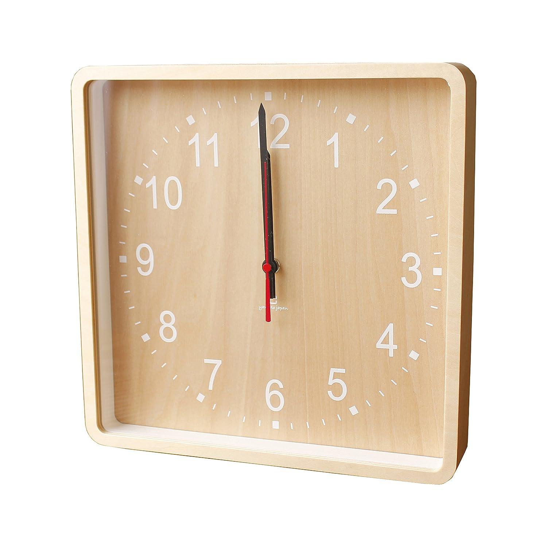 ヤマト工芸 ROUND CLOCK -wall(掛時計) ホワイト YK15-103 B01JI7A35Mホワイト