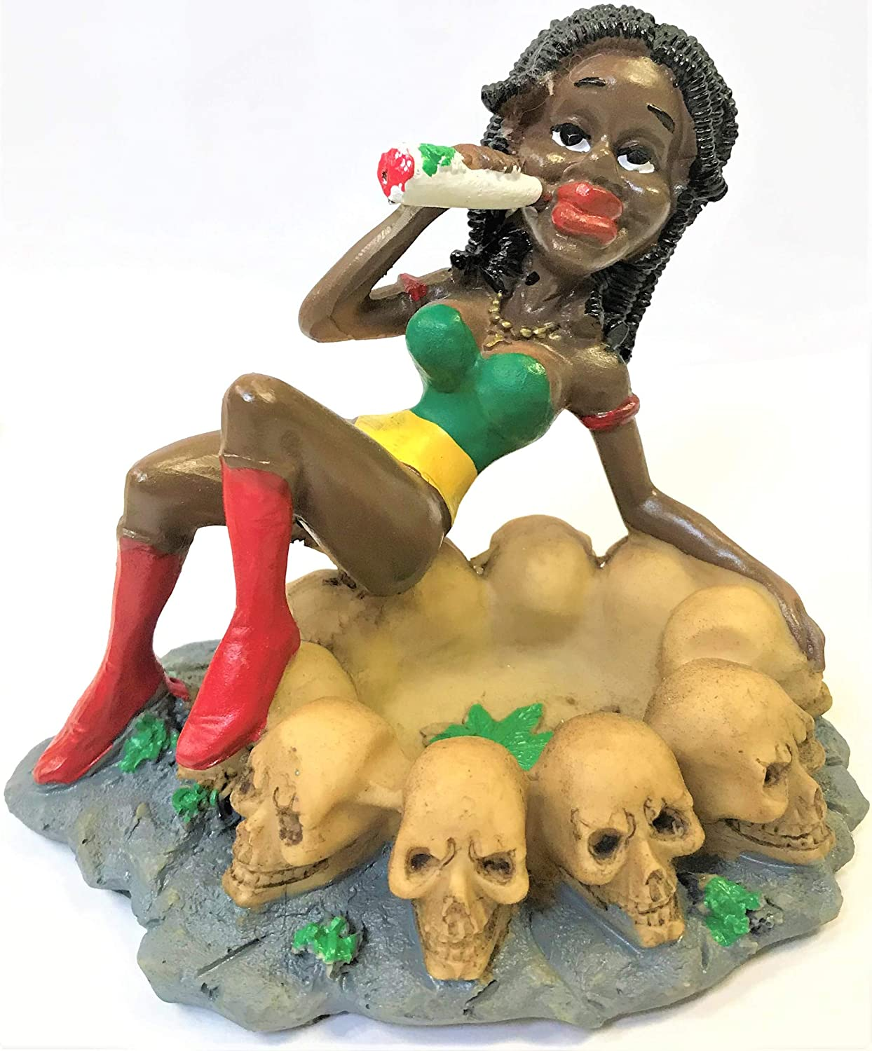 Eclipse Enterprises Jamaican Girl Skull Ashtray 2022