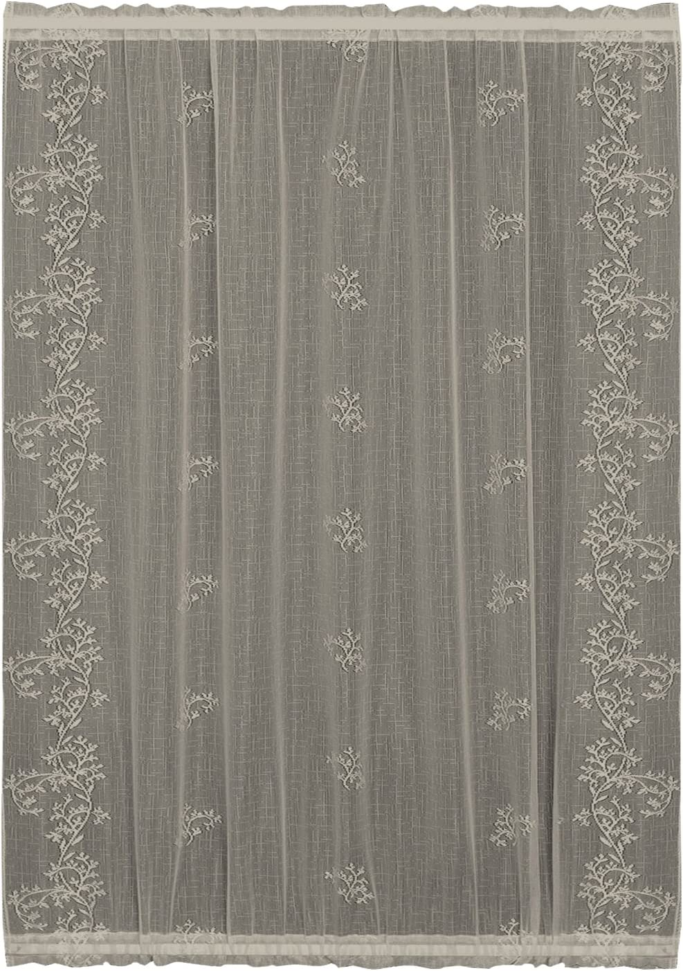 Heritage Lace Sheer Divine Valance, 60 by 16-Inch, Flax