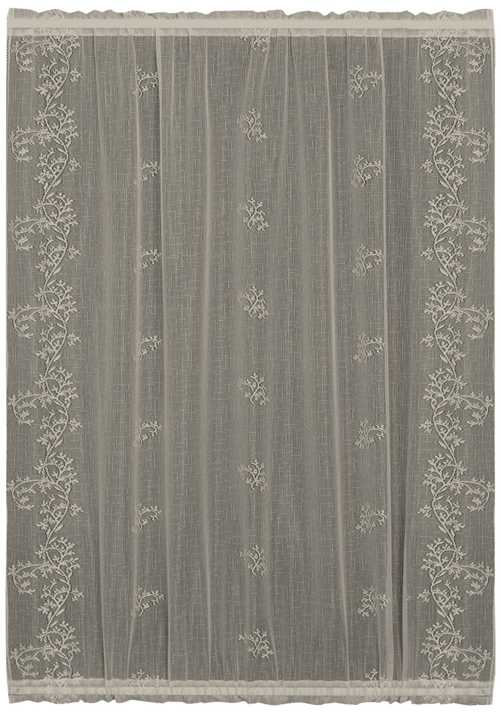 Heritage Lace Sheer Divine Door Panel Flax 42 by 72-Inch