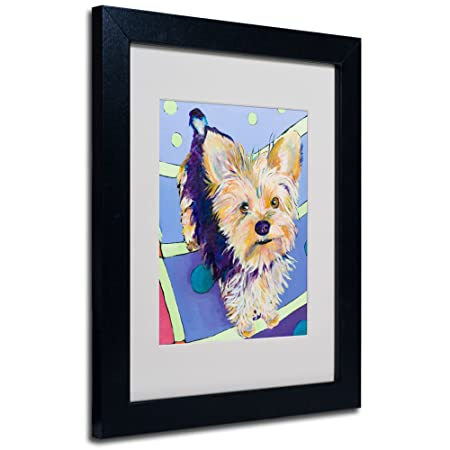 Pat Saunders-White Claire Framed Matted Canvas Art, 11 by 14-Inch, Black