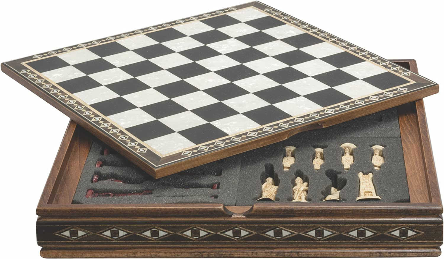Studio Anne Carlton Wooden Draughts Board Game 30 Pieces