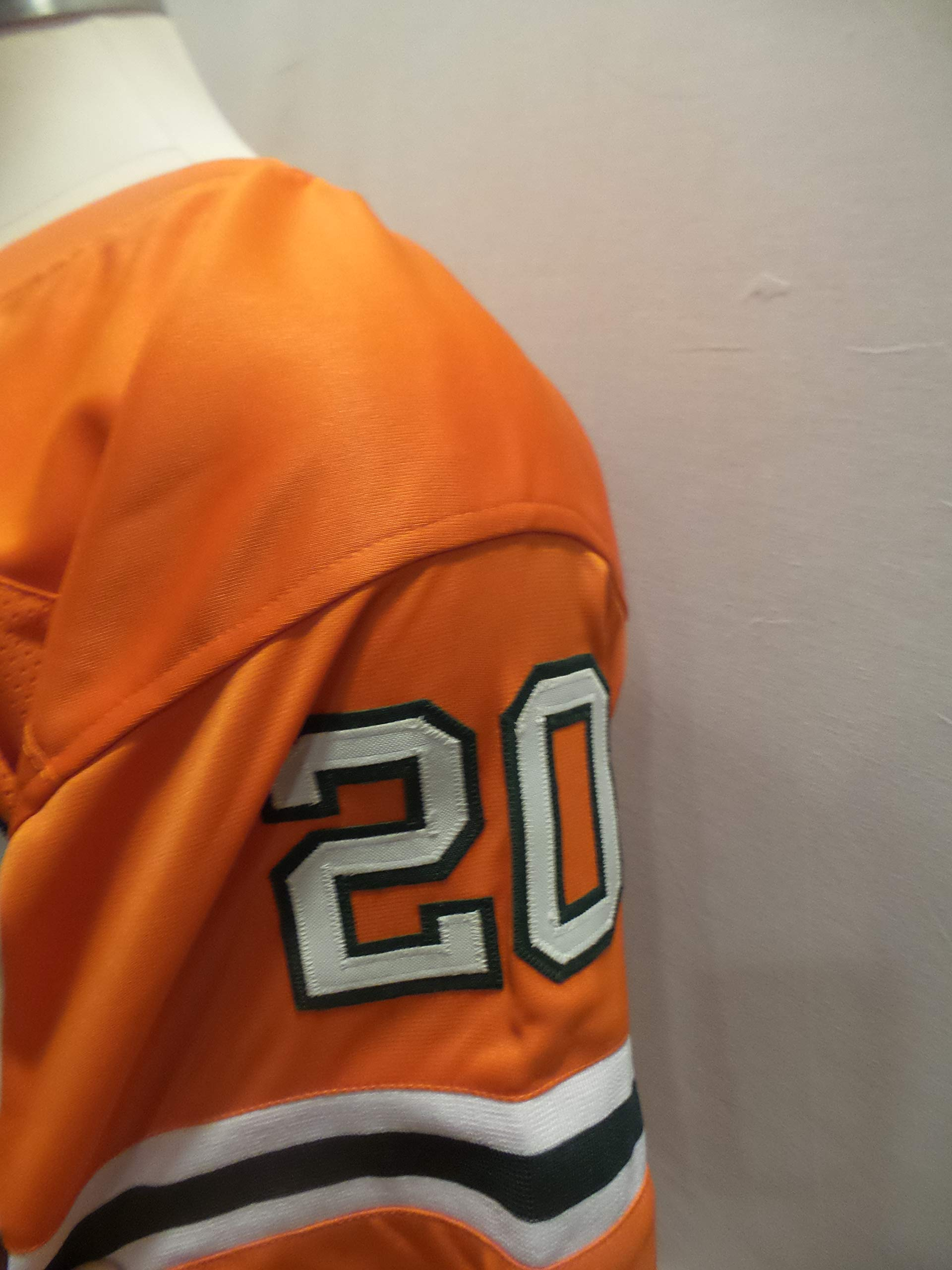 Ed Reed Signed Miami Hurricanes Orange Autographed Novelty Custom Jersey