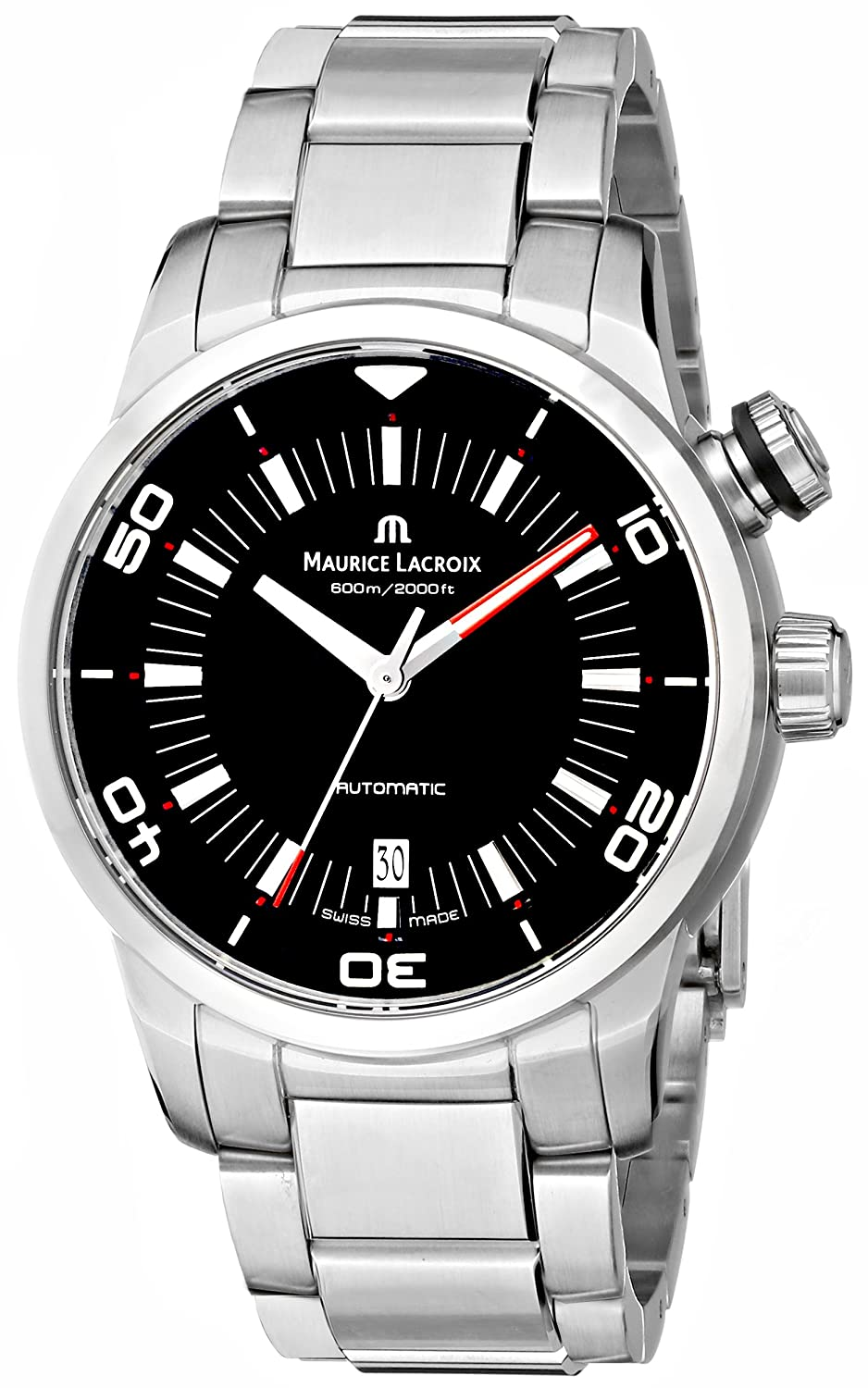 Maurice Lacroix Men s PT6248-SS002-330 Pontos Stainless Steel Automatic Watch