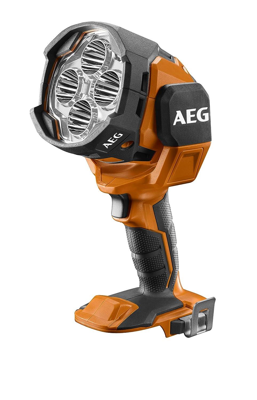 BTL18-0 drehbarer Leuchtkopf ohne Akku Baustrahler 2.100 Lumen mit Dimmfunktion AEG Akku LED-Punktstrahler 18 V