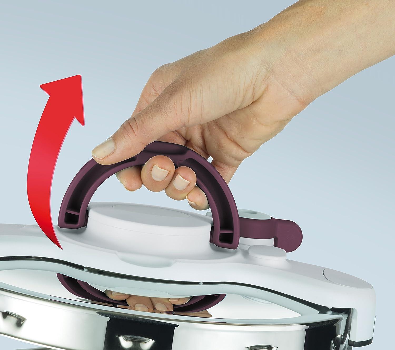 Tefal P4605100 - Olla a presión 2 in 1 y Cacerola con la Capacidad de 5 litros, Aluminio, Morado, 39 x 29.5 x 19 cm: Amazon.es: Hogar
