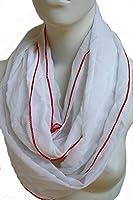 Veriel: Schlauchschal für Damen und Herren in weiß aus Baumwolle