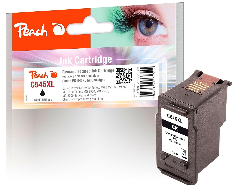 PEACH Cabezal de impresión XL, negro, compatible con Canon PG ...