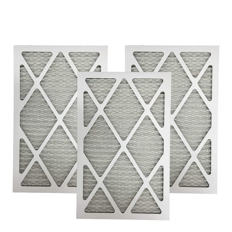 3 MERV 11 Allergen Air Furnace Filters 12x24x1 Crucial Air