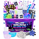 Original Stationery Galaxy Slime Kit with Glow in The Dark Stars & Slime Powder to Make Glitter Slime & Galactic Slime for Bo