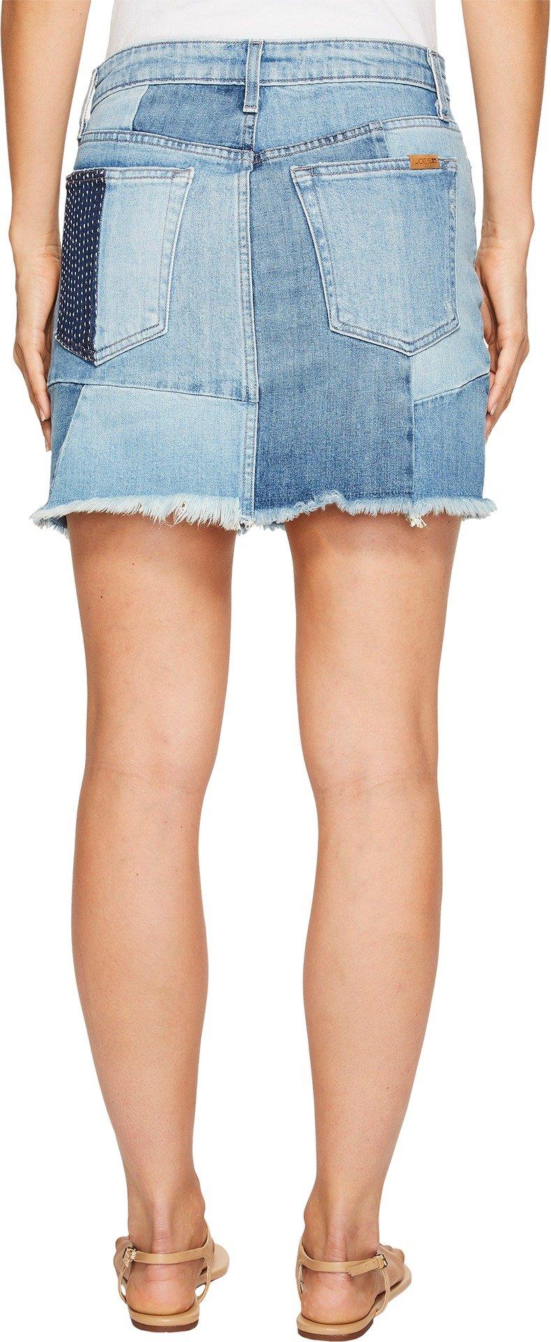Joe's Jeans Women's Patchwork Slit Hem Jean Skirt, Sophia, 27