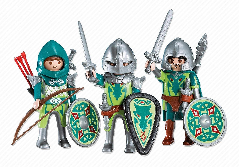 PLAYMOBIL 7973 - 3 Caballeros del Dragón Verde: Amazon.es ...