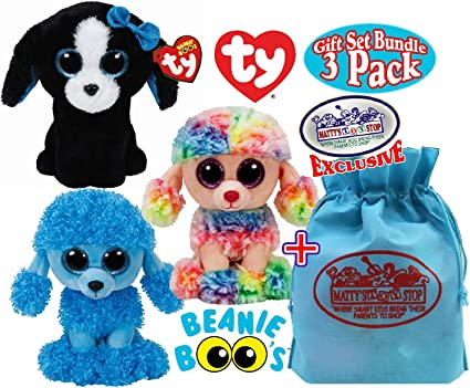 Ty Beanie Babies 37223 Boos Rainbow The Poodle Boo