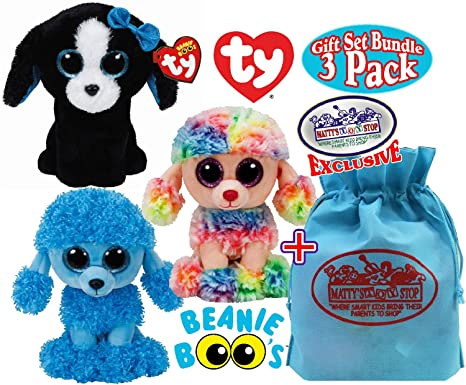 492eb7c9bca Image Unavailable. Image not available for. Color  TY Beanie Boos  quot  Puppy Dogs quot  Rainbow ...