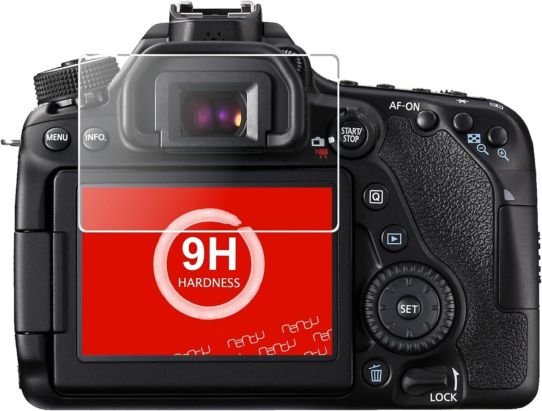 ZenGlass 2 St/ück Flexible Glas-Folie kompatibel mit Canon EOS 80D Panzerfolie I Display-Schutzfolie 9H