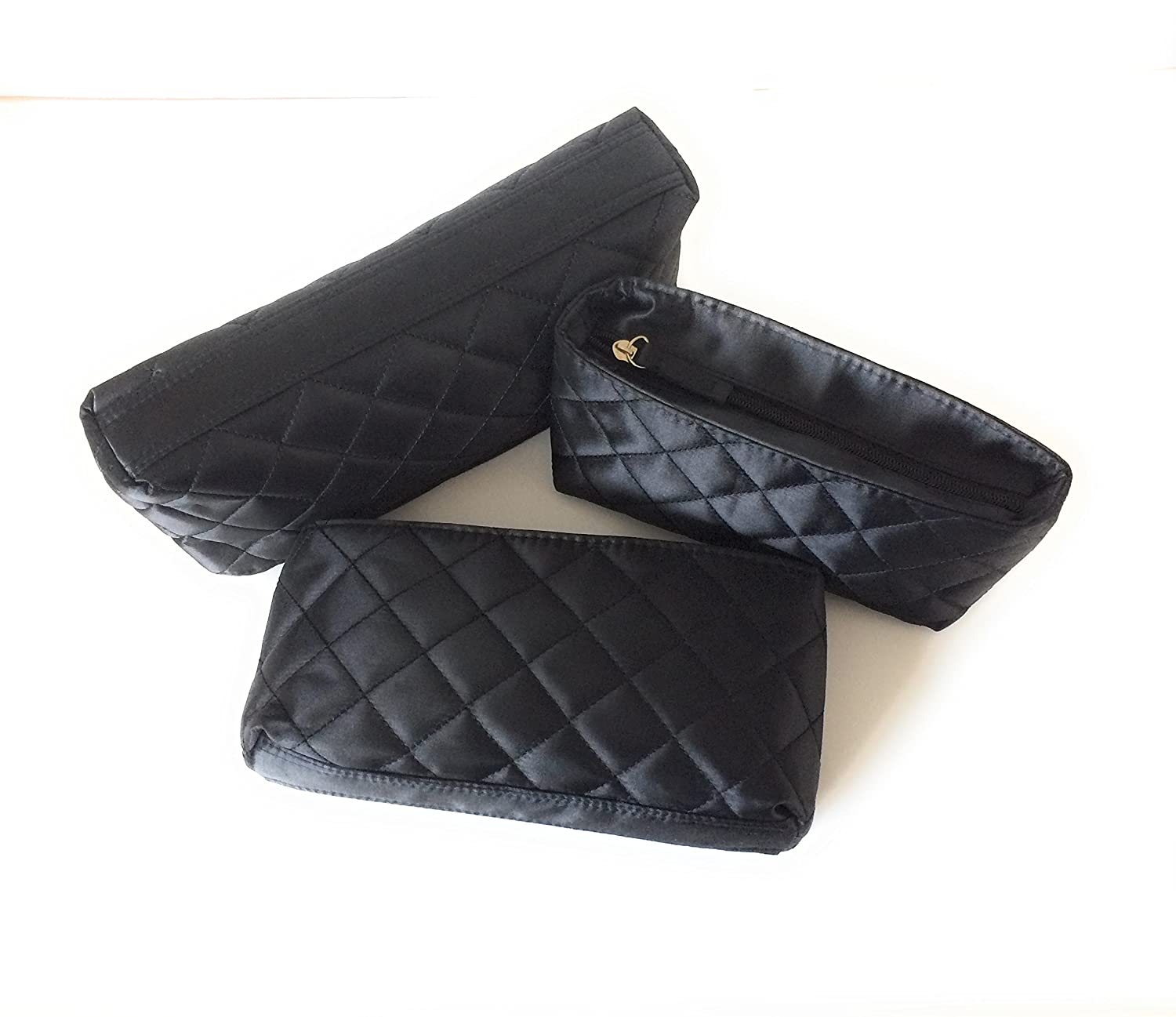 Makeup Bags by Models-on-the-Go Set of 3 - Black