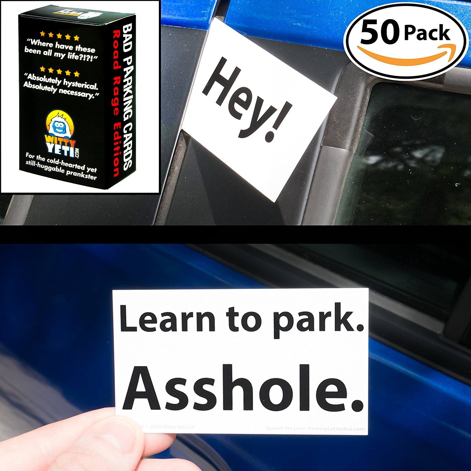 Amazon.com: Witty Yetis Bad Parking Business Cards 5x 18+ Designs ...