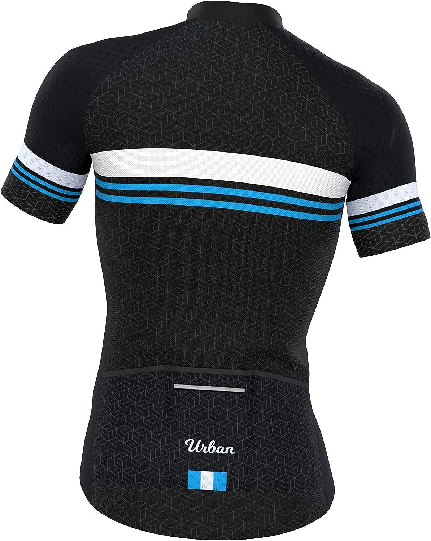 Men/'s Classic Black Short Sleeve Jersey Bib Shorts