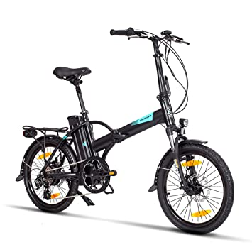 bicicleta eléctrica fitifito New York FD20 Plus pulgadas bicicleta plegable E-bike, 36v 250w