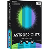 Wausau Astrobrights 24# Writing Paper, 500 count, Cool Assortment, 8.5 x 11 Inch (20274)