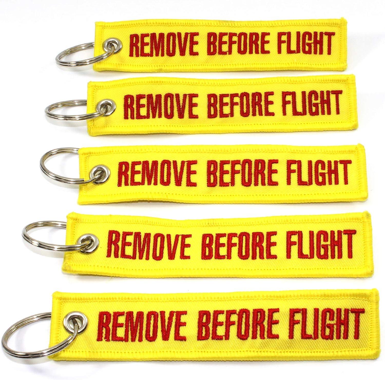 Yellow//Red 5pcs Rotary13B1 Remove Before Flight Keychain