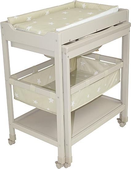 IB-Style 11 d/écors diff/érents Mod/èleAstronaut Matelas Commode B/éb/é Meuble Table /à langer avec baignoire/à roullettes