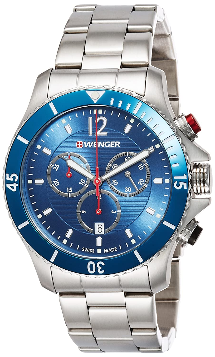 WEGNER Unisex-Armbanduhr 01.0643.111 WENGER SEAFORCE CHRONO Analog Quarz Edelstahl 01.0643.111 WENGER SEAFORCE CHRONO