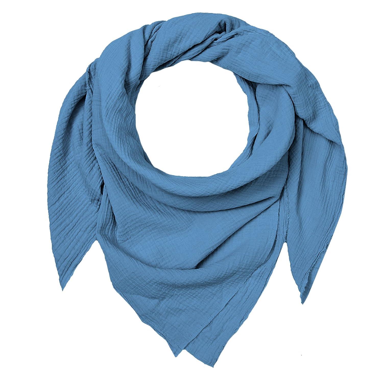 alle Materialien OEKO-TEX Standard 100 zertifiziert Blausberg Baby handgefertigt in Hamburg Musselin-Tuch f/ür Damen als Halstuch Schal ***DIVERSE FARBEN*