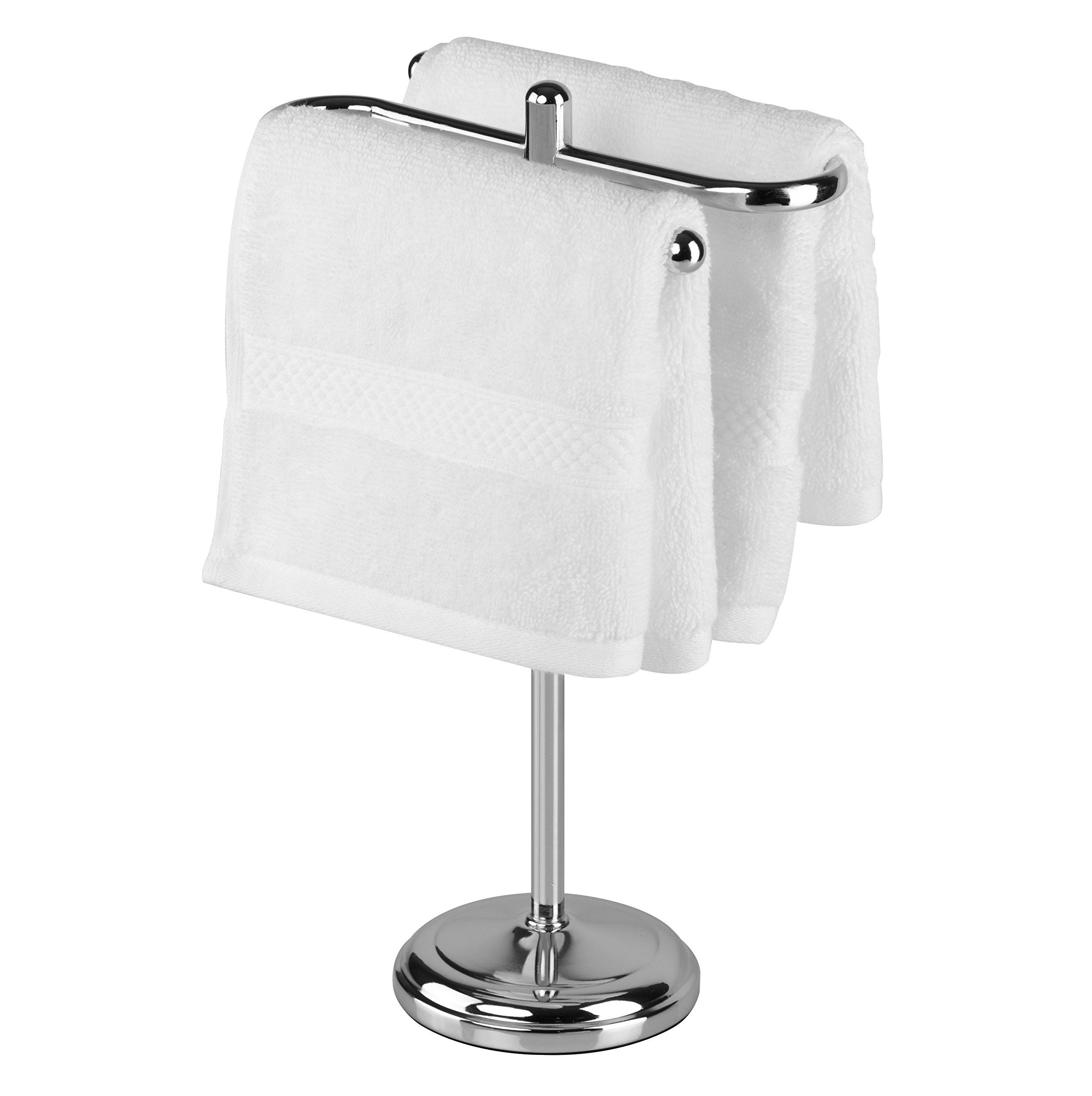 AMG and Enchante Accessories, Free Standing Fingertip Hand Towel Bar Holder Tree Rack, TT100006 CHR, Chrome