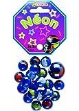 Kim'Play - 600708 - Jeu de Plein Air - 20 Billes  +  1 Calots -   Neon