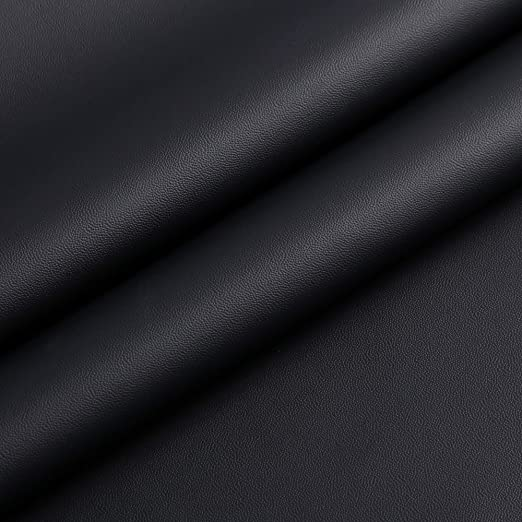 1Yard Black Litchi Upholstery Leather for Automobile Upholstery Fabric For Car Seat Sofa 1.0mm Thick 54 Wide Send Folded