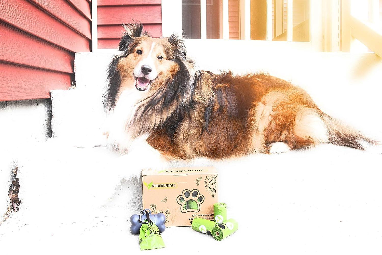 Amazon.com: Greener Lifestyle Dog Waste Bags + 1 Dispenser ...