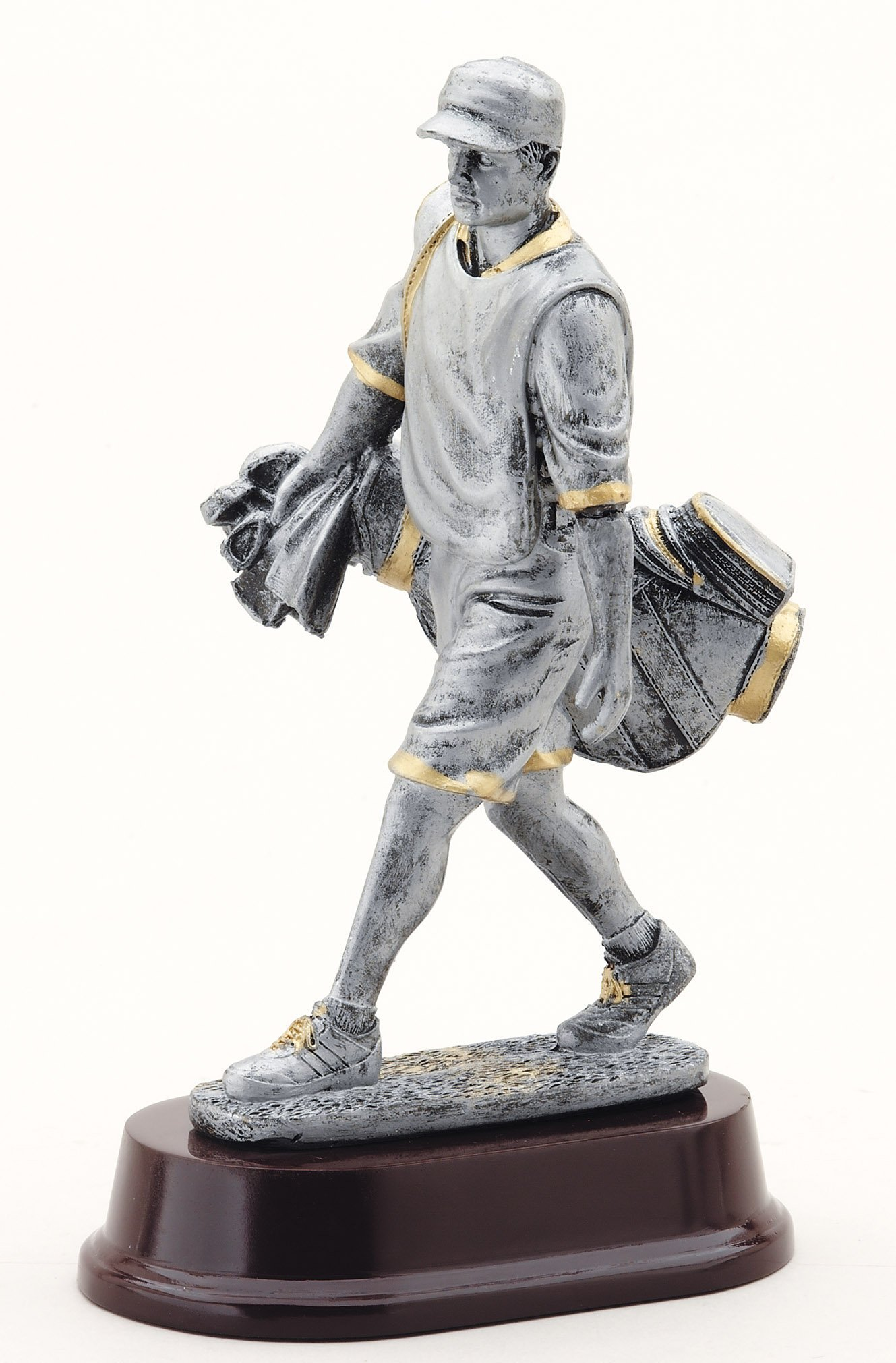 The Trophy Studio Golf Caddie With Bag 9 1/2''tall
