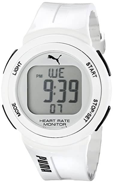 Unisex PUMA PU911101002 de pulso de cuarzo japonés de la pantalla Digital reloj blanco: Puma: Amazon.es: Relojes