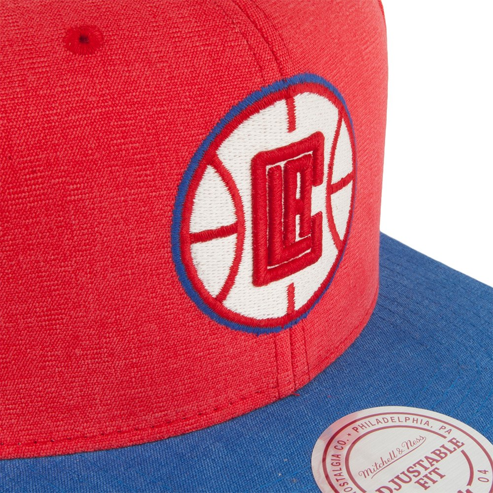 604c22c0f02 Mitchell   Ness L.A. Clippers Snapback Cap - Red-Royal Adjustable   Amazon.co.uk  Clothing